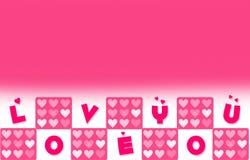 Het Behang van de valentijnskaartendag met Liefde u Word stock fotografie