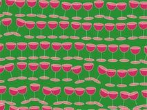 Het behang van de wijn Royalty-vrije Stock Foto