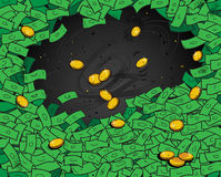 Het behang van het geld Royalty-vrije Stock Foto's
