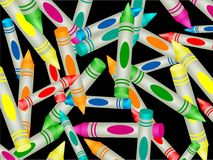 Het Behang van het kleurpotlood royalty-vrije illustratie