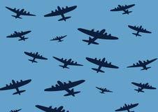 Het Behang van het vliegtuig Stock Fotografie