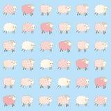 Het behang van kinderen met schapen Royalty-vrije Stock Afbeelding