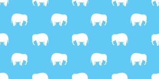 Het behang van het olifants naadloos patroon vector geïsoleerd blauw als achtergrond vector illustratie