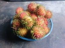 Het behang van het Rambutanfruit Royalty-vrije Stock Foto