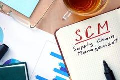 Het Beheer van de Keten van de Levering SCM Stock Afbeeldingen