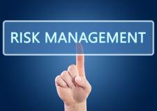 Het beheer van het risico Stock Foto