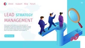 Het Beheers Horizontale Vlakke Banner van de loodstrategie stock illustratie