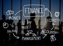 Het Beheersconcept financiën van de Bedrijfsboekhoudingsanalyse Stock Afbeelding