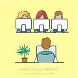 Het beheersfl Lineart van het bedrijfsmensen ver werk royalty-vrije illustratie