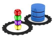 Het beheerssysteem van het gegevensbestand Stock Foto's