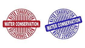 Het BEHOUD van het Grungewater om Watermerken wordt gekrast dat stock illustratie