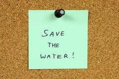 Het behoud van het water Stock Fotografie