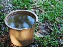 Het behoudsemmer van het regenwater in tuin Royalty-vrije Stock Afbeelding