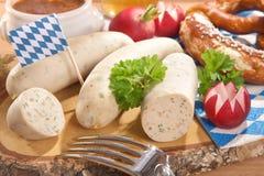 Het Beierse Ontbijt van de Kalfsvleesworst Royalty-vrije Stock Foto