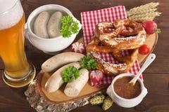 Het Beierse Ontbijt van de Kalfsvleesworst Royalty-vrije Stock Afbeelding