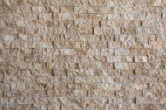 Het beige Behandelen van de Muur van de Steen Royalty-vrije Stock Afbeelding