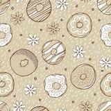 Het beige schenkt naadloos patroon Royalty-vrije Stock Afbeeldingen