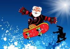 Het bejaarde mannetje van Skateboarder Royalty-vrije Stock Foto