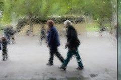 Het bejaarde mensen lopen Royalty-vrije Stock Afbeelding