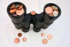 Het bekijken financiën. stock afbeeldingen