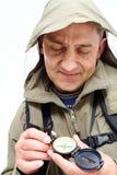 Het bekijken kompas royalty-vrije stock afbeeldingen