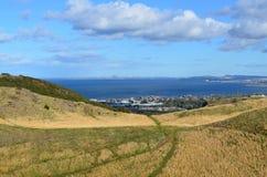 Het bekijken neer in Edinburgh in Schotland Royalty-vrije Stock Foto's