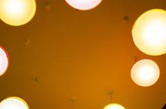Het bekijken omhoog cirkel van lichten Royalty-vrije Stock Afbeelding
