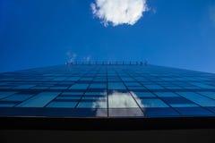 Het bekijken omhoog de bedrijfsbouw Royalty-vrije Stock Foto