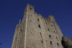 Het bekijken omhoog het Kasteel van Rochester Royalty-vrije Stock Afbeeldingen