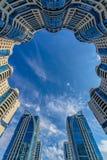 Het bekijken omhoog ronde woningbouw Royalty-vrije Stock Foto's