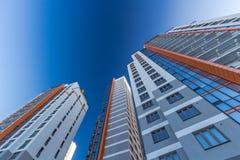 Het bekijken omhoog woningbouw Royalty-vrije Stock Foto's