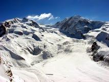 De Zwitserse Gletsjer van Alpen Stock Fotografie