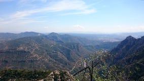 Het bekijken van landschap monserat dichtbij Barcelona Royalty-vrije Stock Fotografie