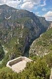 Het bekijken van platform Gorges du Verdon royalty-vrije stock foto's