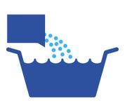 Het bekken van de wasserij met detergens   Stock Foto's