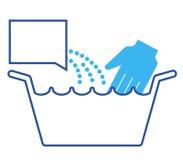 Het Bekken van de wasserij met Detergens   Royalty-vrije Stock Foto