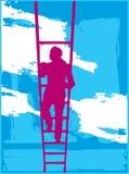 Het beklimmen aan Hemel Vector Illustratie