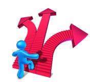 Het beklimmen aan succes Stock Fotografie