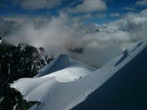 Het beklimmen in Aiguille du Midi Royalty-vrije Stock Afbeeldingen