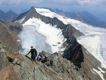 Het beklimmen in de Stubai-Alpen royalty-vrije stock foto