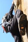 Het beklimmen op een rots Royalty-vrije Stock Afbeeldingen