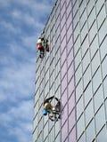Het beklimmen op het gebouw voor was Royalty-vrije Stock Foto's