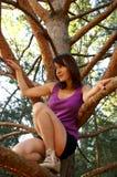 Het beklimmen op hout stock foto