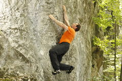 Het beklimmen van beweging Stock Foto