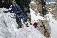 Het beklimmen van de berg Royalty-vrije Stock Afbeelding