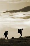 Het beklimmen van de berg Stock Afbeelding