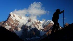 Het beklimmen van de berg Royalty-vrije Stock Foto's