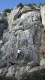 Het beklimmen van de berg royalty-vrije stock afbeeldingen