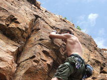 Het beklimmen van de berg Royalty-vrije Stock Foto