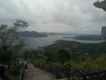 Het beklimmen van de bovenkant van MT Tapyas royalty-vrije stock afbeeldingen